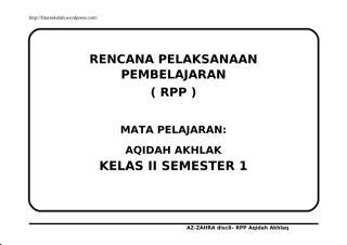 AQIDAH AKHLAQ KELAS 2.doc