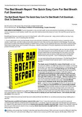 The Bad Breath Report The Quick Easy Cure For Bad Breath Full Download-html.pdf
