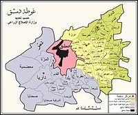 خريطة محافظة ريف دمشق