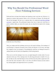 Why You Should Use Professional Wood Floor Polishing Services.doc