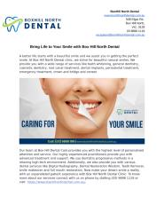 Bring Life to Your Smile with Box Hill North Dental.docx
