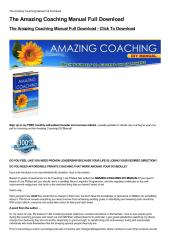 The Amazing Coaching Manual Full Download-html.pdf