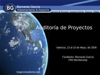 CONTENIDO Auditoria de proyectos abril 2009.ppt
