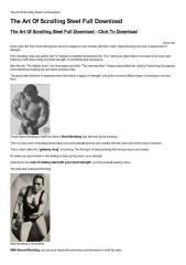 The Art Of Scrolling Steel Full Download-html.pdf