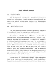 Informe de proyecto de Servicio Comunitario Estudiantil.doc