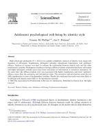 Adolescent psychological well-being by identity style.pdf