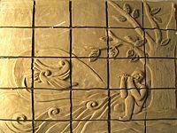 تابلو سفالی نقش برجسته  (چوپان )