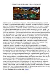 DifferentWaystoPlayDaftarPokerOntheinternet948.pdf